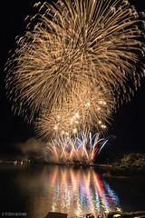Fireworks in Shimabara gamadasu firework festival 2017 (tetsuyakatayama) Tags: nagasaki japan firework unzen fugendake nightscape light sea water