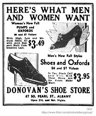 1931 donovan's shoe store (albany group archive) Tags: albany ny history 1931 donovans shoe store south pearl street old vintage photos picture photo photograph historic historical 1930s