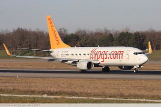 Boeing 737 -82R PEGASUS AIRLINE TC-ABP 40876 Mulhouse décembre 2015