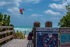 Miami Beach, Welcome. (Jiv.Talking) Tags: beach miami southbeach water sun sand beachlife paragliding usa relax relaxation nikon nikond750 nikonphotography trees chill chilling