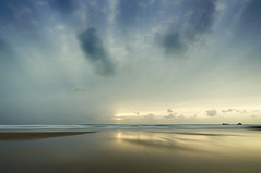 Constantine (Bruus UK) Tags: constantine cornwall beach dusk sky clouds desterd alone solitude freshness reflection sunlight coast marine sunset walking beachcombing beachlife rocks islands motion outside outdoors seascape