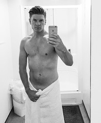 Learning to love my body (thomo79) Tags: mybody mirrorselfie nakedman nakedguy shower naked handsome sexy hot