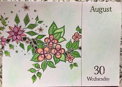 Johanna Basford, 2017 Coloring Calender.  Andrews McMeel Publishing, 2016 (delphinecingal) Tags: pencils crayons kohinoor craiespastels pastelchalks johannabasford2017coloringcalenderandrewsmcmeelpublishingcouleurcolorscoloringcoloriage