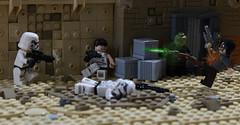 Murkhana City street fight. (Jan, The Creator) Tags: darktimes dark times stormtrooper star wars lego murkhana e11 t21 nn14 neimoidian