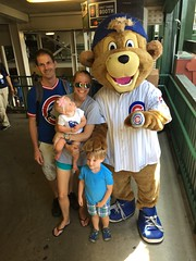 """Family Picture with Clark at Wrigley Field • <a style=""""font-size:0.8em;"""" href=""""http://www.flickr.com/photos/109120354@N07/36850408795/"""" target=""""_blank"""">View on Flickr</a>"""
