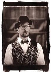 Self portrait (Nagy Krisztian) Tags: vandyke collodion negative glass portrait