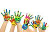 viele bemalte bunte Kinderhände (madonaspriedite) Tags: hände farben farbe kinder malen kind angemalt freigestellt textfreiraum hintergrund weiss weis weiser pinsel streichen hand gesicht smiley lachen bemalt isoliert flyer strecken baby kleinkind kinderhände abdrücke fingerabdrücke bunt bunte handabdrücke renovieren pinseln kindergarten winken freude glück spielen toben copyspace rahmen fröhlich glücklich geschwister bruder schwester 2 3 jahre 4 germany