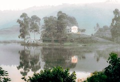 Hazy reflections (jmiller35) Tags: landscape canoneos canon uganda africa haze fog water river lakes refections