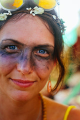 Lili the hippie (@aczel.xyz) Tags: ozora festival 2017 psy psytrance goa psychedelic hungary photography photographer trance summer lili portrait face girl female femme lány nő woman hippie blueeyes makeup beautiful young pretty canon 700d 50mm
