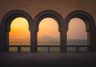 Doha Skyline from the Islamic Art Museum