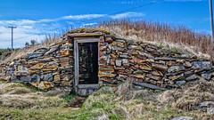 Root Cellars - Hundreds are found in this tiny community! (Brett of Binnshire) Tags: historicbuilding hdr lrhdr highdynamicrange manipulations locationrecorded stonebuilt lightroomhdr architecture newfoundland cellar elliston canada rootcellar