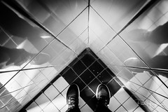 Reflections of shoes (PaulHoo) Tags: fujifilm x70 reflection city urban kampen holland netherlands 2017 abstract fineart lines pattern texture shape diagonals people
