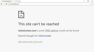 IslamicState.com cannot be reached