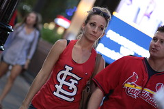 Dejected Cardinals Fan (dangaken) Tags: chicago chicagoil il illinois windycity cityofbroadshoulders summerinchicago summerinthecity september2017 chitown chi usa midwest lakeview centrallakeview cubs chicagocubs cubsvcardinals stlouiscardinals wrigley wrigleyfield baseball mlb nlcentral pennantrace majorleaguebaseball sport stadium ballpark rivals rivalry chicubs nationalleague sweep wrigleyfieldbleachers bleachercreatures bleachers bleacherseats centerfieldbleachers fans stl cardinals blonde sunglasses tanktop dejected frown