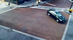 Intersection (Crawford Brian) Tags: miniatue effect nikon car street intersection brick pavement auto oakpark illinois midwest urban pedestrian tiltshift