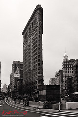 Flatiron Building, NYC (Kent Johnson) Tags: 1000adjsebwcrpf6957 flatrionbuilding nyc architecture fujifilmxpro1 xf18mmf2r blackwhite travel newyork