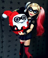 Harley's Present (honeysuckle jasmine) Tags: mattel dc comics superhero girls harley quinn batman doll barbie