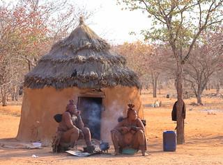 Himba Married Women Himba Village Kamanjab Damaraland Namibia South West Africa