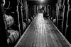 Inside the bourbon rackhouse (sniggie) Tags: makersmark makersmarkdistillery barrel blackandwhite bourbondistillery bourbonwhiskey distillery monochrome nightlights oakbarrel rackhouse wood