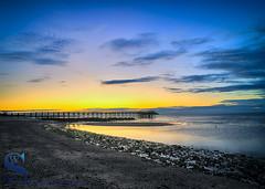 Morning colors behind the Walnut Beach Pier (Singing With Light) Tags: 2017alpha6500 22nd milford mirrorless singingwithlight sonya6500 morningwalk photography september singingwithlightphotography sony sunrise walnutbeach