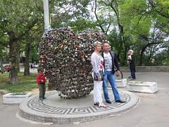 Marriage lock monument in Odessa (kalevkevad) Tags: best flickr odessa odesa ukraine