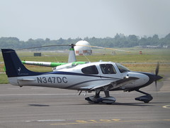N347DC Cirrus SR22 (Aircaft @ Gloucestershire Airport By James) Tags: gloucestershire airport n347dc cirrus sr22 egbj james lloyds