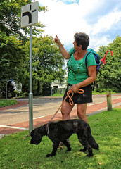Michelle from Paris (Steenvoorde Leen - 10.7 ml views) Tags: 2017 doorn utrechtseheuvelrug michelle parijs paris tresor portret portrait francaise woman femme frau donna dama hond dog doggy hound chien clebard perro can perra canino cane cao cachorro