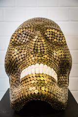 Goldgesicht (Frank Lindecke) Tags: nordart gold patronen schädel skull kunstwerk carlshütte wwwnordartde