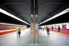 Ratusz Arsenal metrostation (agnes.mezosi) Tags: underground metrostation metro longexpophotography longexpo longexposure streetphotography streetphoto