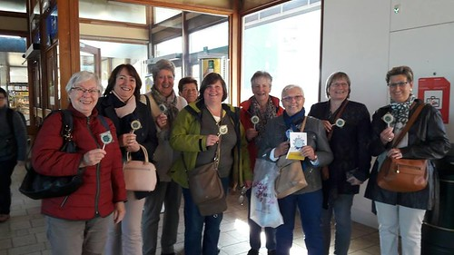 Chocolate lollies for morning commuters in Herentals