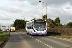 First 63375 SL16 RBX Hatfield Woodhouse 24th February 2017 (asdofdsa) Tags: firstbus hatfieldwoodhouse transport travel a614