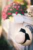 (Rebecca812) Tags: hat summer flowers floral imaptiens flowerbox frontporch serene purity romantic cozy stilllife art rebecca812 canon home beauty nature pink white green simplepleasures nopeople