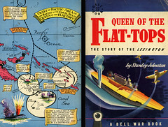 Dell Books 37 - Stanley Johnston - Queen of the Flat-Tops (with mapback) (swallace99) Tags: dell vintage 40s wwii paperback mapback usslextington