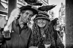 rainbow and paul-street portrait (Daz Smith) Tags: dazsmith fujixt20 fuji xt20 andwhite bath city streetphotography people candid portrait citylife thecity urban streets uk monochrome blancoynegro blackandwhite mono
