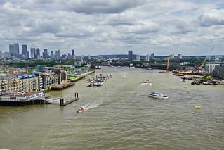 Blick von der Tower Bridge in London