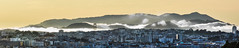 coastal cooling panorama (pbo31) Tags: sanfrancisco california city urban august 2017 summer boury pbo31 nikon d810 color over view sunset potrerohill skyline fog layer silhouette goldengatebridge orange bridge 101 panorama large stitched panoramic gray