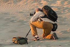 Sunset Shooter (RaminN) Tags: photographer sunset warm colors sand oregon coast pacific northwest
