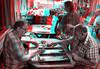 Istanbul, Turkey (DDDavid Hazan) Tags: istanbul turkey türkiye coffeshop kahvehane backgammon tavla tea çay anaglyph 3d bw blackandwhite bwanaglyph 3danglyph 3dstereophotography redcyan redcyan3d stereophotography stereo3d