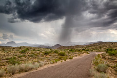 Rainshower, Mohave County (Kirk Lougheed) Tags: arizona mohave mojave mojavedesert usa unitedstates cloud clouds desert landscape mountains outdoor rain shower sky storm