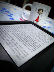Leisure (upayankita) Tags: moto tea kindle leisure home rest book reading cup