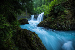Spirit Falls, Mid Summer (Matt Straite Photography) Tags: water fall strem river washington columbiarivergorge columbia blue cold nature landscape tree trees hike outdoors
