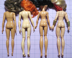 Buff Ladies Comparison (RequiemArt.com) Tags: wwe fashion doll becky lynch comparison photos mattel made move mtm barbie dc super hero girls wonder woman sdcc 2016 she ra shera exclusive foot