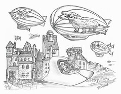 Yeoville (rod1691) Tags: bw scifi grey concept custom car retro space hotrod drawing pencil h2 hb original story fantasy funny tale automotive art illistration greyscale moonpies sketch
