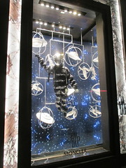 Lost In Space or Plan 9 From Outer Space Fashion 0349 (Brechtbug) Tags: lost in space fashion spaceman cosmonaut suit flying saucers store front display window department madison avenue nyc 2017 moncler near barneys new york city 09162017 bubble helmet russian astronaut men spacemen man plan 9 from outer ed wood windows universe suits astro scifi science fiction stores halloween holiday fashions clothes outfit flight orbital saucer above galaxy