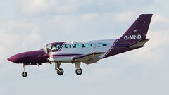 RVL Cessna 404 G-MIND EMA 15-08-17 (robdsn) Tags: rvl cessna cessna404 eastmidlandsairport