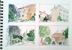 Périgné, la Petite Maison du Poitou (Croctoo) Tags: croctoo croctoofr crocquis aquarelle watercolor campagne