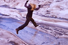 One Giant Leap! (jurvetson) Tags: alaska glacier hike trek trimble ice remote skwentna ak polarizer blue dense dhmo frozen inception