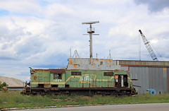 Last One (GLC 392) Tags: lsi lake superior ishpeming railroad railway train 1804 rsd12 alco freighter ship pilot house last one escanaba mi michigan awaiting death