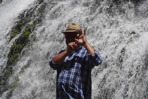 At the Shaki waterfall