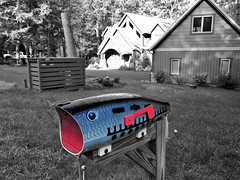 Deep Creek Lake ~ fun mailbox (karma (Karen)) Tags: oakland maryland deepcreeklake garrettco lakehouse mailbox selectcolor sliderssunday hss iphone